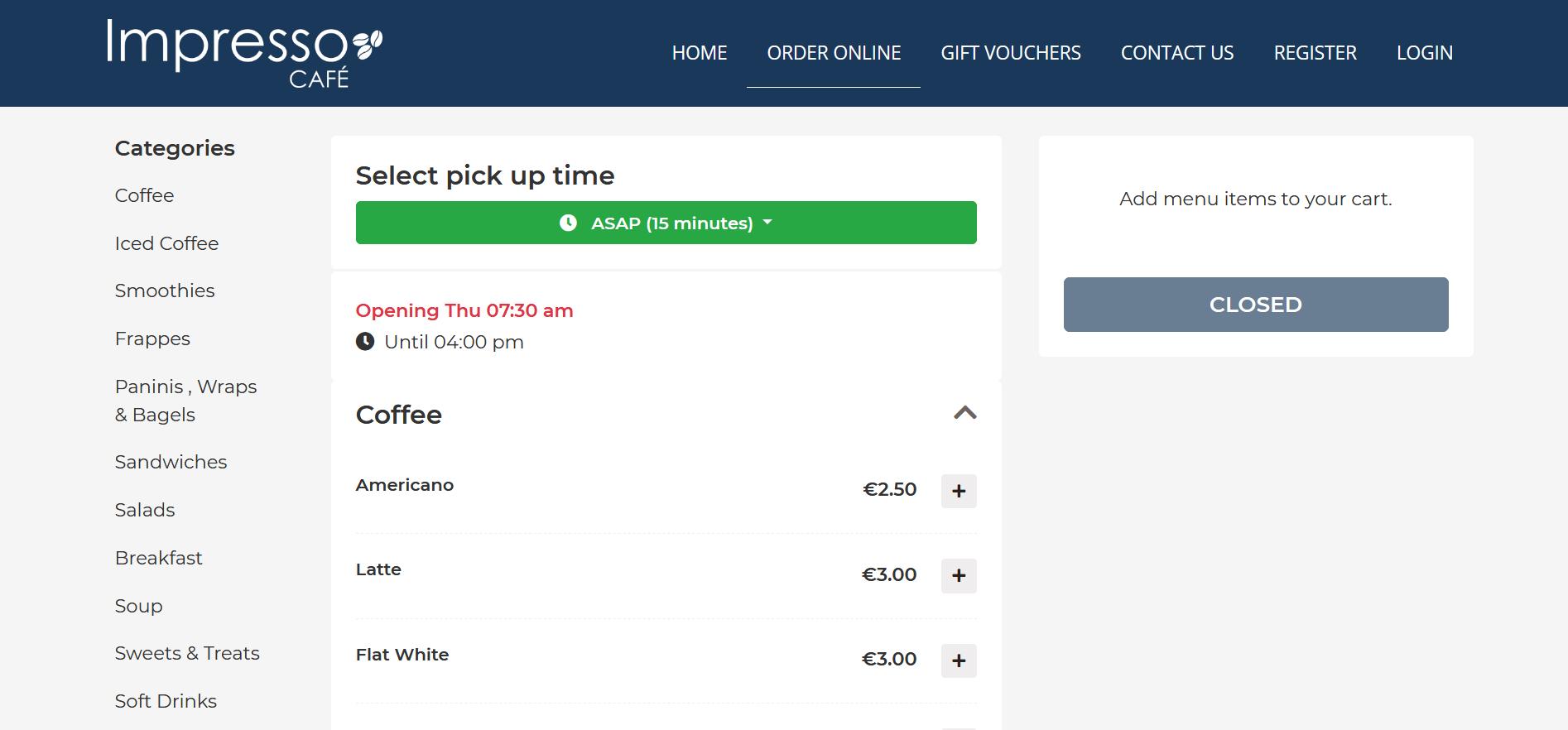 Restaurant Online Ordering App
